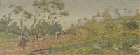 l'averse pl. 7 for 'la feerie de heures' by henri rivière