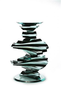 twisted abstracted strip vase #7 by sidney hutter