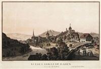 vue de la ville de baden en argeu, du coté de bains by matthias pfenninger