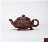 teapot with dragon motif by ji yishun