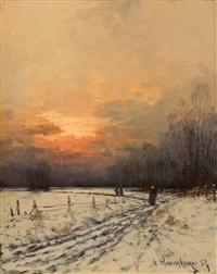 winterliche landschaft am niederrhein by gernot rasenberger