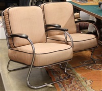 art moderne lounge chairs (2 works) by k.e.m. weber