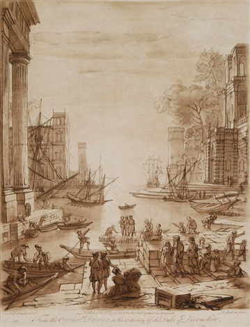 landschaften after claude lorrain set of 30 by richard earlom