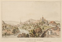 vue de la ville de baden en argeu, du coté des bains by matthias pfenninger