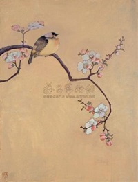 花鸟之六 (flower-and-bird painting no.6) by yi xunsi