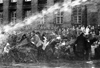 anti-springer demonstration after assassination attempt on rudi dutschke's, berlin by fred ihrt