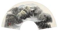 长白山瀑布 by li weikang