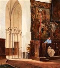 interieur einer gotischen kathedrale by vincent stoltenberg-lerche