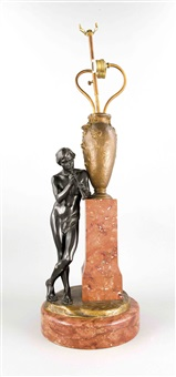 figürliche lampe by hans müller
