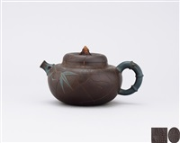 teapot with bamboo shoot patterned knob by ji yishun