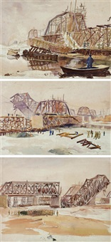datong river (+ 2 others, various sizes; 3 works) by ha qiongwen