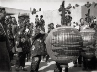 taoist funeral procession in peking (9 works) by heinz von perckhammer
