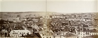 panoramic view of lisbon, portugal (2 works mntd together) by j. laurent