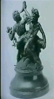 tva dansande och drickande statyrer by ludvig hasselriis