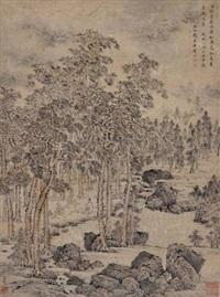 雅集图 (landscape) by shen shichong
