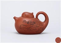 teapot with madarin duck shape by yi su and liu jianping