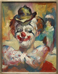 clown portraits (2 works) by julian ritter