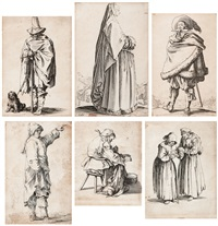 folge von sechs (6 works) by jacques callot