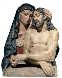 cristo in pieta sorretto dalla madonna by girolamo vicentino