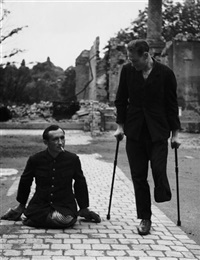 zwei männer - ein bein (two men - one leg), dresden by richard peter sr.