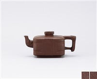 teapot with jade bi pattern by zhou guizhen