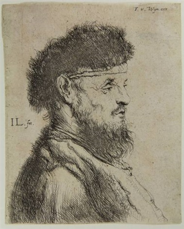 bust of an old bearded man facing right by jan lievens