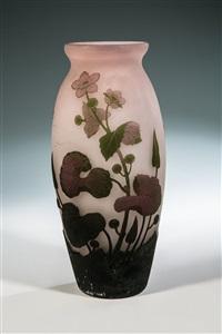 vase mit sumpfdotterblume by arsall (vereinigte lausitzer glaswerke)