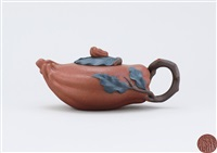 teapot in the shape of buddha's hand citron by jiang rong