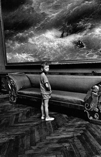 boy in museum, moscow by helfried strauss