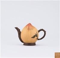 peach shaped teapot by jiang rong