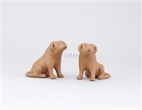 puppy ornaments (2 works) by jiang rong
