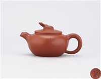 teapot with buffalo shaped knob by jiang rong