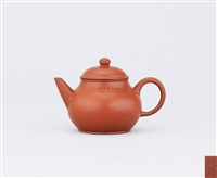 teapot with level spout and handle by gu jingzhou