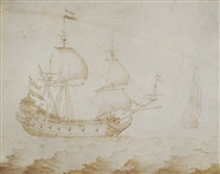 niederländische fregatte auf hoher see by margarethe de heer
