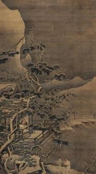 山水人物 (landscape) by ren yueshan
