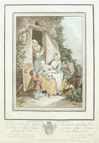 la confiance enfantine la crainte enfantine 17775 2 works after sigmund freudenberger by jean françois janinet
