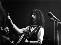 frank zappa in concert at the sportpalast, berlin by axel benzmann