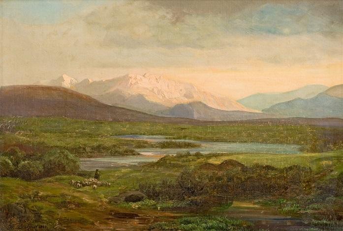 landschaft mit bergsee by wilhelm boshart