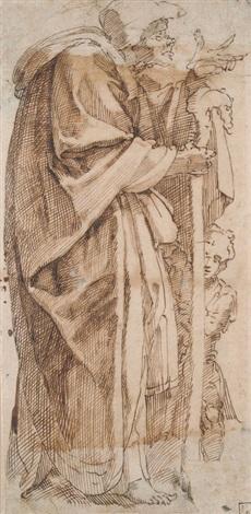 alte hexe mit einem jungen by michelangelo