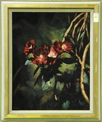 still life with hibiscus flowers by ralph tyree