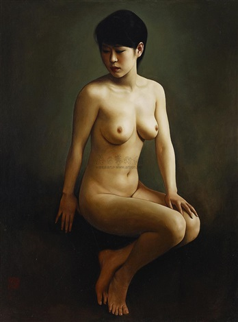 sitting woman by xue yanqun