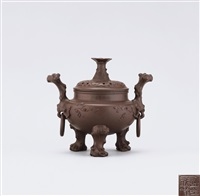 ancient vessel with plum blossom by xu chengquan