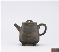 high quadrilateral teapot by xu weiming