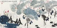鹤鸣荷香远 by xu zhenshi