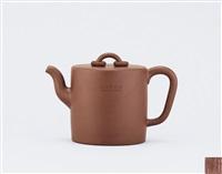 teapot of tall cylindrical shape by ren bei'an