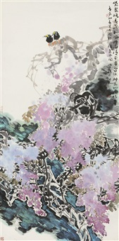 紫藤逢春 by liu longhua
