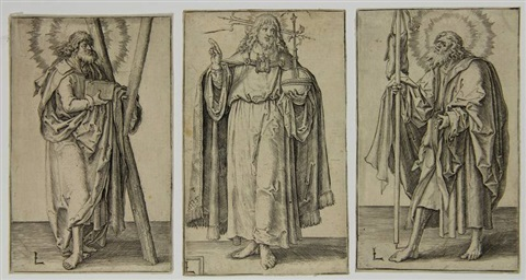 christ 8 others 9 works from christ paul and the twelve apostles by lucas van leyden