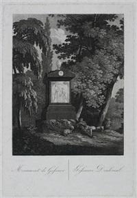 gessners denkmal / monument de gessner (after j. b. stuntz) by friedrich christian reinermann