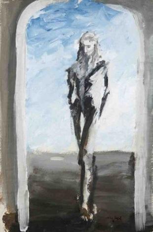 personnage marchant sous une voûte by max jacob