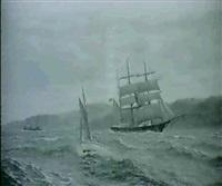 marin med segelfartyg by zackarais martin aagaard